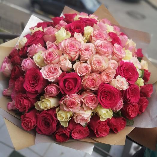 101 роза!!!💐: букеты цветов на заказ Flowwow