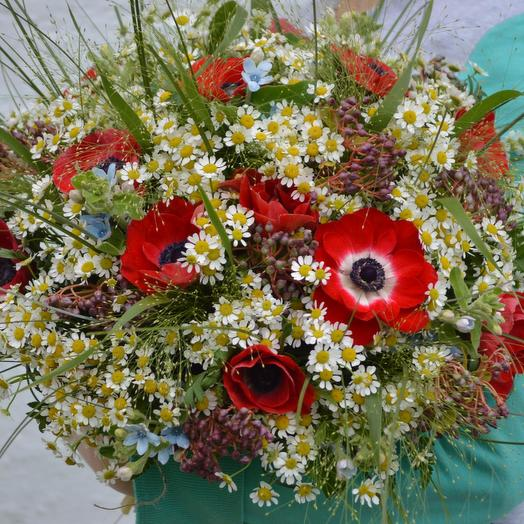"Букет цветов ""Маков цвет"": букеты цветов на заказ Flowwow"