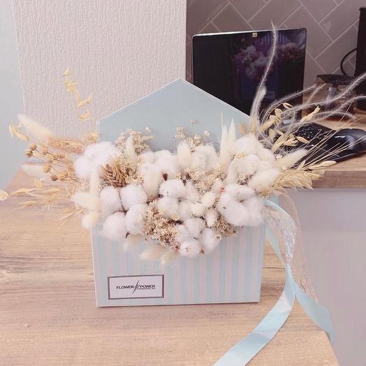 Конвертик с посланием: букеты цветов на заказ Flowwow