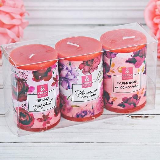 Ароматная Валентинка-свечи: букеты цветов на заказ Flowwow