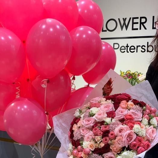 Шары в ассортименте, латексные: букеты цветов на заказ Flowwow