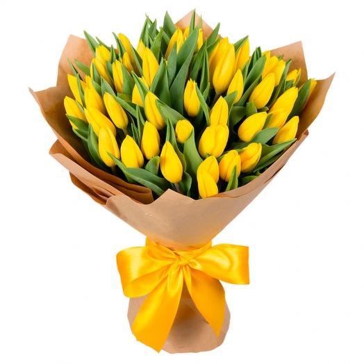 Тюлпаны 49 шт: букеты цветов на заказ Flowwow