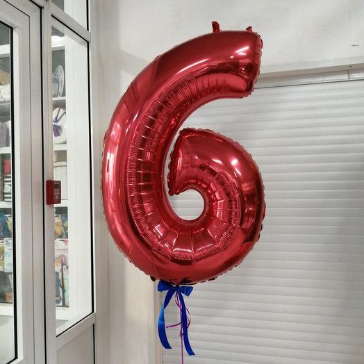 "Фольга цыфра ""6"""