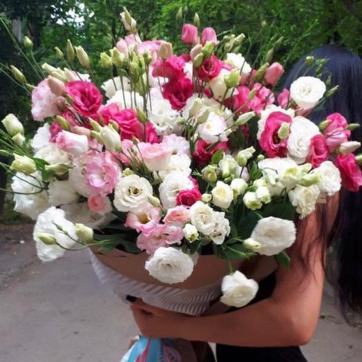 Букет гигант из 25 эустомы: букеты цветов на заказ Flowwow
