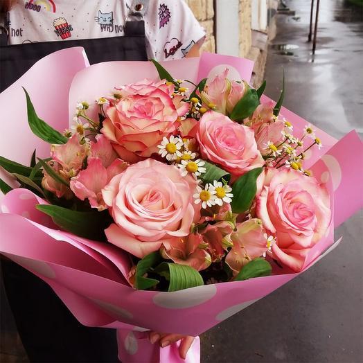 "Букет с розами ""Летний вечер"""
