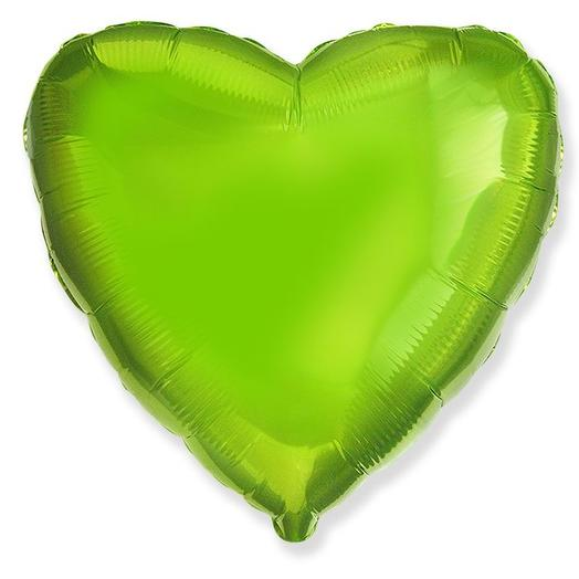 Фольгированный шар зеленое сердце