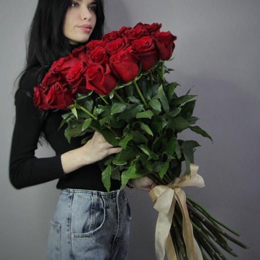 31 Винная роза 90 см