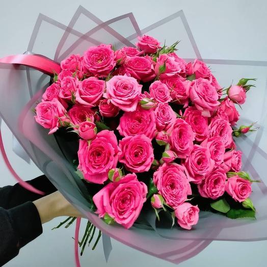 Шикарный букет кустовых роз(охапка)