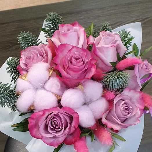Розы+хлопок