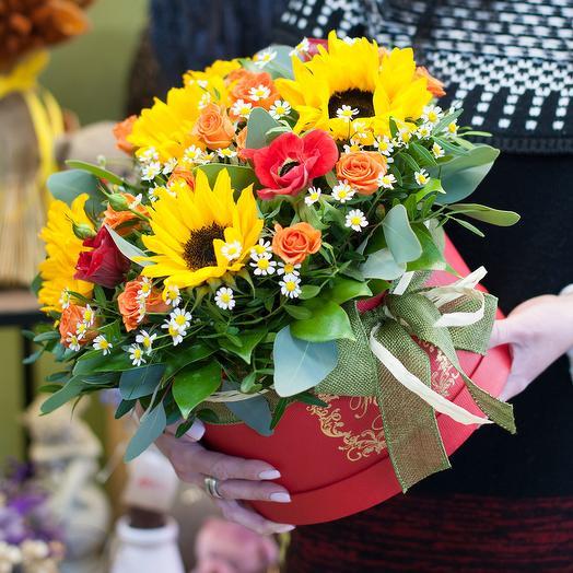 Коробка с цветами Когда сбываются мечты