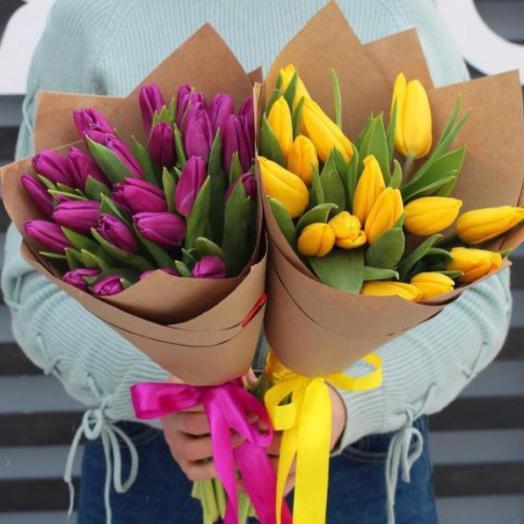 Тюльпаны жёлтые 15 шт