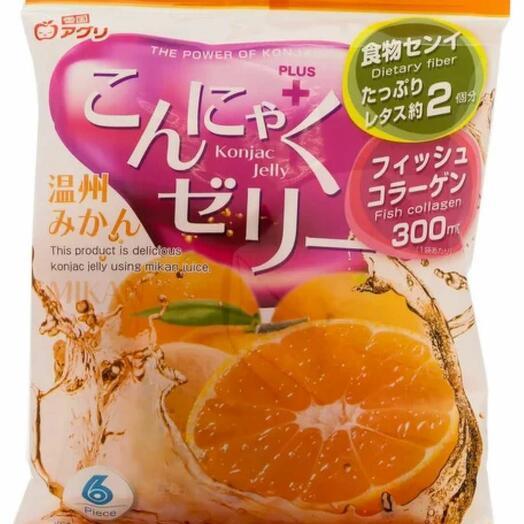 Желе конняку со вкусом мандарина Yukiguni Aguri 108 г