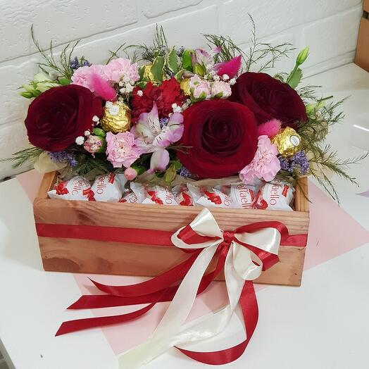 Бархатные розы и рафаэлло
