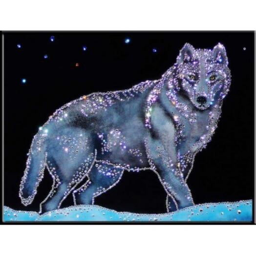 "Картина с кристаллами Swarovski ""Волк"""