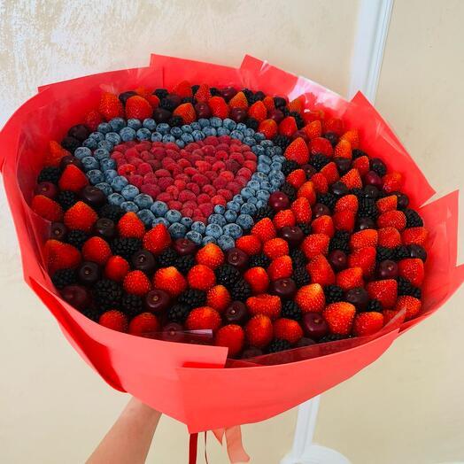 Букет Малиновое сердце