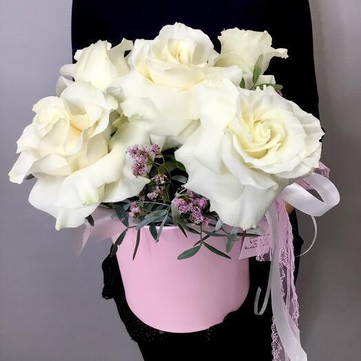 Коробка с розами Эквадор