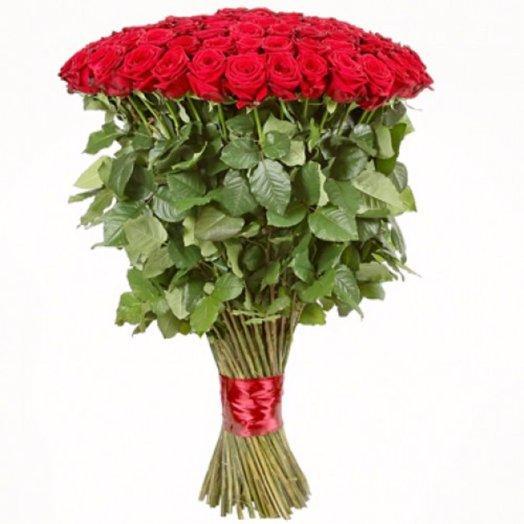 51 красная роза 80 см: букеты цветов на заказ Flowwow