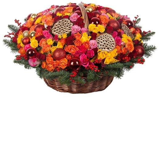Корзина Золотой лотос: букеты цветов на заказ Flowwow