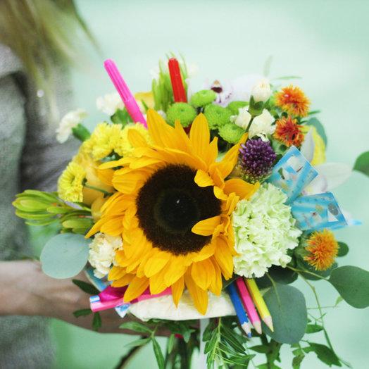 Букет для учителя: букеты цветов на заказ Flowwow
