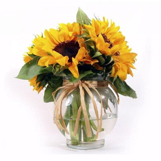 ПОДСОЛНУХИ в вазе: букеты цветов на заказ Flowwow