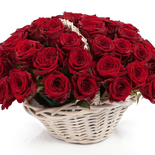 51 red roses: flowers to order Flowwow
