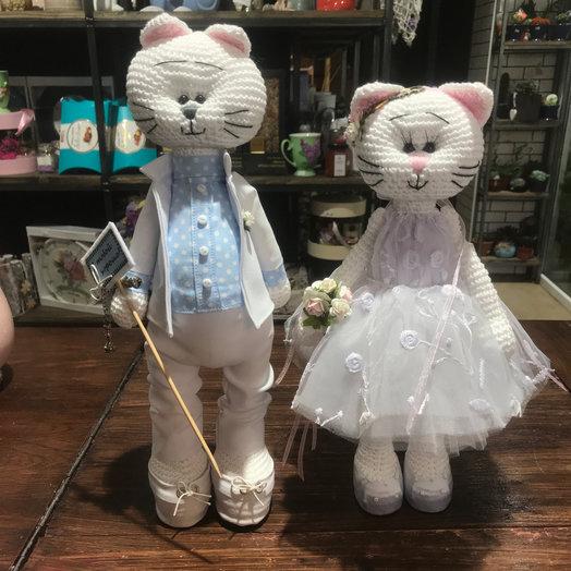 Котики Жених и Невеста : букеты цветов на заказ Flowwow
