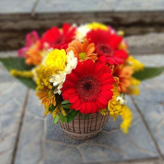 Осенняя мини композиция: букеты цветов на заказ Flowwow