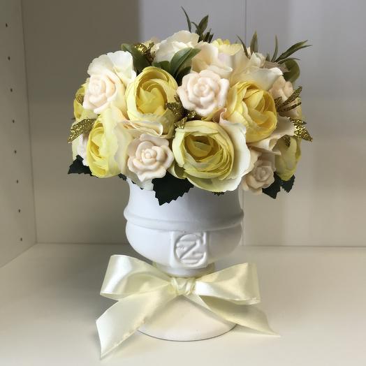 Мыло в вазе(ручная работа): букеты цветов на заказ Flowwow