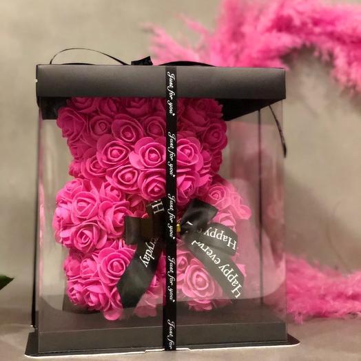 Мишка «Pink: букеты цветов на заказ Flowwow