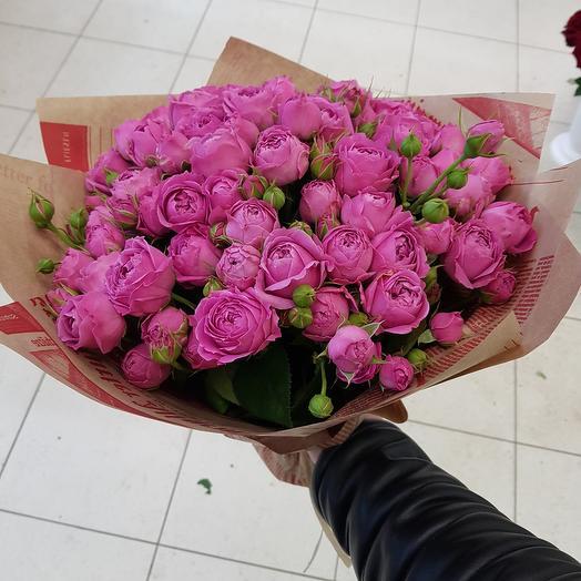 Букет из 19 пионовидных роз: букеты цветов на заказ Flowwow