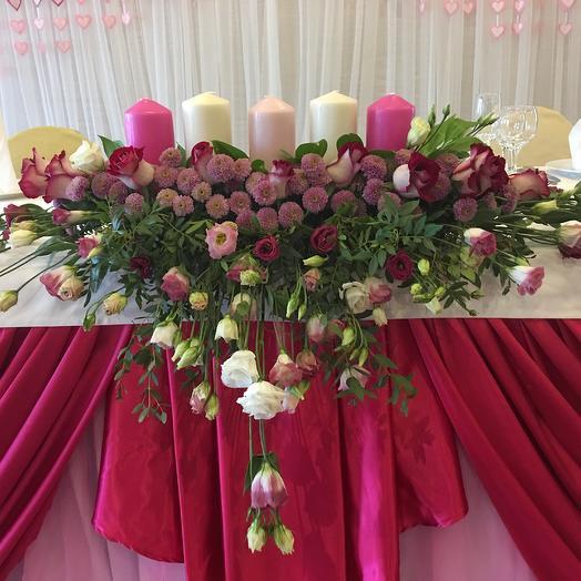 Композиция для президиума со свечами: букеты цветов на заказ Flowwow