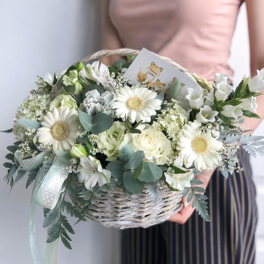 Корзинка «Ромашки»: букеты цветов на заказ Flowwow