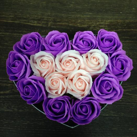 Для любимой.Роза из мыла