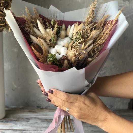 Интерьерный букет из не вянущих растений: букеты цветов на заказ Flowwow