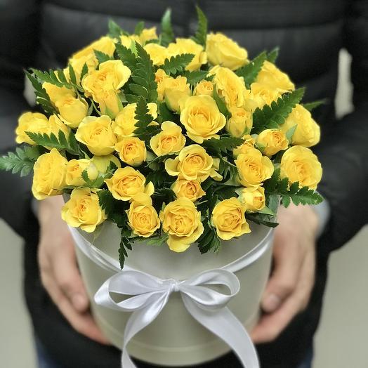 Солнечная коробочка: букеты цветов на заказ Flowwow