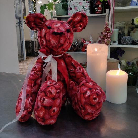"""Медвежонок """"Малинка"""" ручной работы: букеты цветов на заказ Flowwow"""