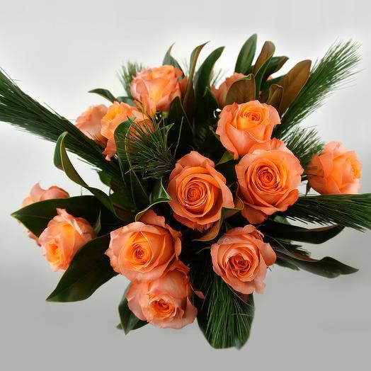 Bushy roses bouquet