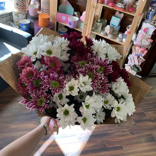 9 кустовых хризантем