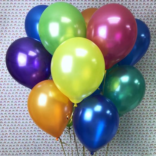 Воздушные шарики «Металлик»: букеты цветов на заказ Flowwow