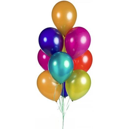 10 гелиевых шариков