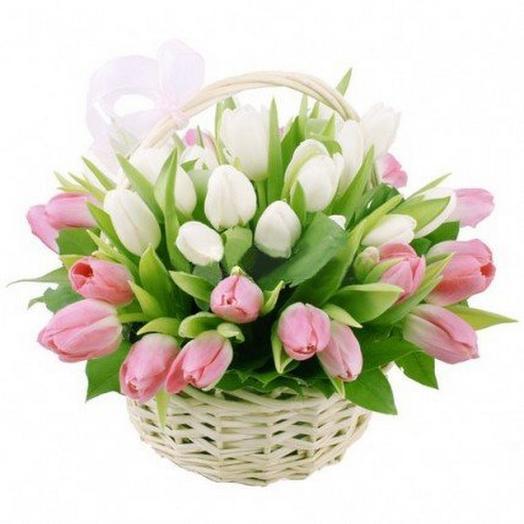 Корзина тюльпан
