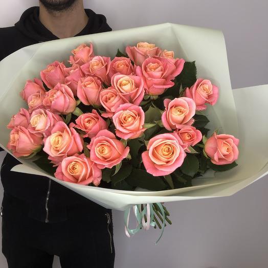 25 роз 60 см: букеты цветов на заказ Flowwow