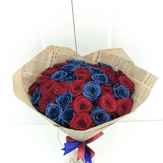 Синяя роза микс