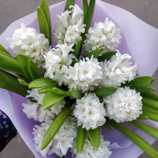 Белый гиацинт: букеты цветов на заказ Flowwow