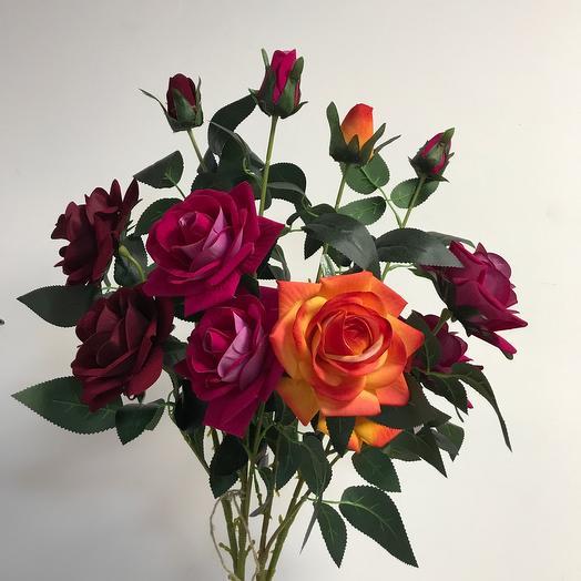Бархатные розы искусственный
