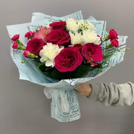 Малиновые сны: букеты цветов на заказ Flowwow