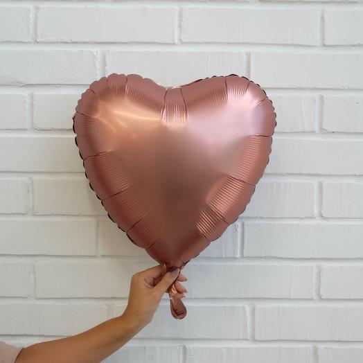 Сердце фольга , 1 шт