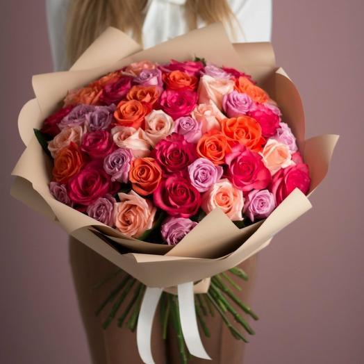 Яркий букет из 51-ой эквадорской розы