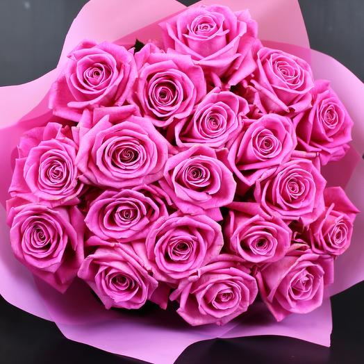 Букет Bouquet of 19 pink roses Hit