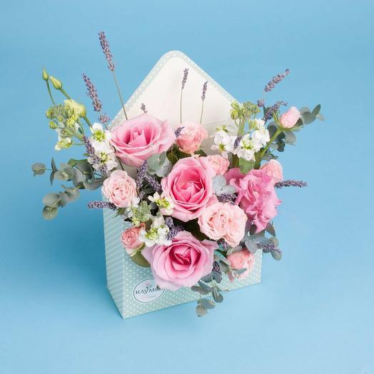 Цветочный конверт 6